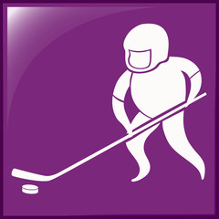Sport icon design for ice hockey