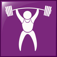 Sport icon design for weightlifting