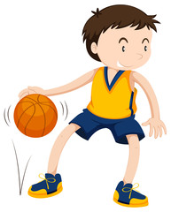 Male athlete playing basketball