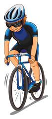 Man athlete riding bicycle
