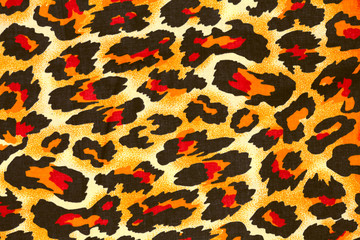 leopard image fur as background