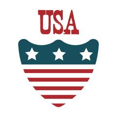 UNITED STATES OF AMERICA shield. USA patriotic symbol