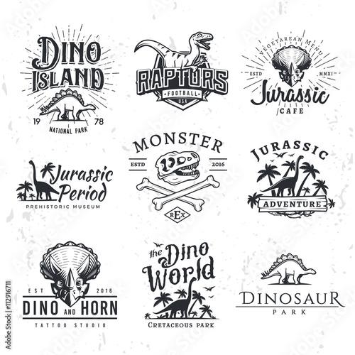 Quot Big Dinosaur Vector Logo Set Triceratops T Shirt