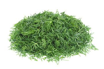 Fototapeta Dill herb chopped on white obraz