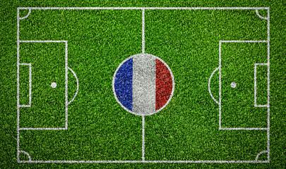 Fußball Spielfeld Frankreich