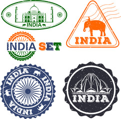 India stamps set