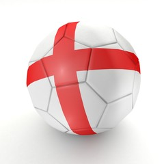 Football - flag of England - 3D rendering