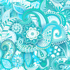 Colorful seamless pattern. Floral background