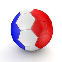 Football - flag of France - 3D rendering
