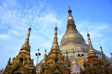 La pagode Shwedagon à Yangon, Myanmar.