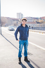 Young beautiful man outdoor in the city