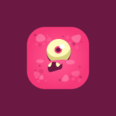 Feeling Stupid Pink Monster Emoji Icon