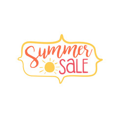 Summer Discount Colorful Ad