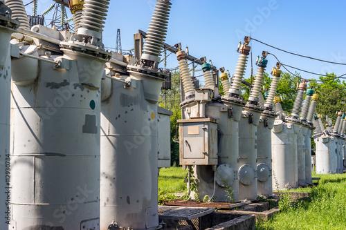 Soviet equipment electrical substation,110 kV