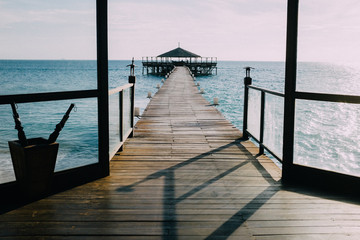 Pier heading out towards ocean