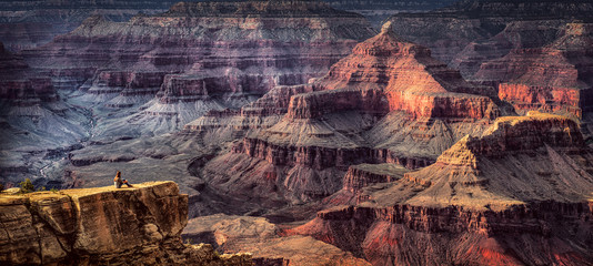 Sandstone rock formations in canyon