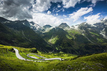 View of Mountains with Road