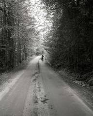 Walking on Bean Pond Road, Vermont