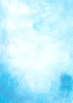 Blue Sky watercolor background abstract