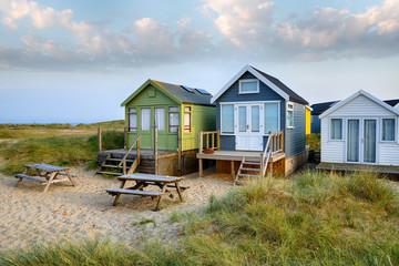 Fototapete - Beach Huts at Mudeford