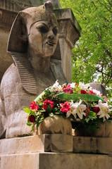 Paris - Sphinx am Fontaine du Palmier auf dem Place du Châtelet