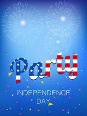 4th of July vector illustration. Independence Day illustration.. Web banner