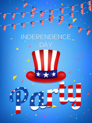 Independence Day Party vector illustration.4th of July vector illustration.  Web banner