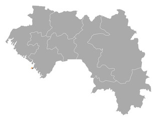 Map - Guinea, Conakry