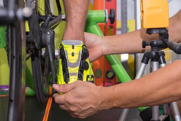 Fitting bike fillter foot pain