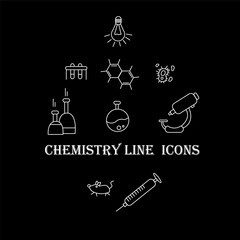 the science of chemistry icons
