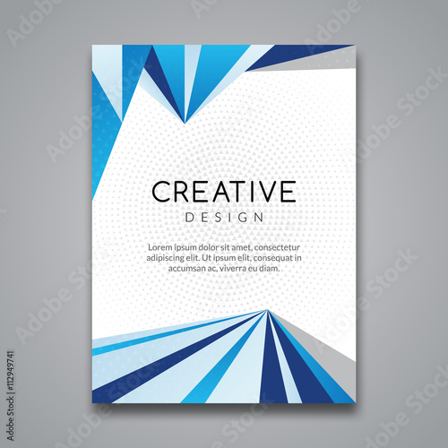 Business Report Design Flyer Template Background With Colorful Lines Brochure Cover
