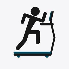 Fitness design. Gym icon. Flat illustration, vector graphic