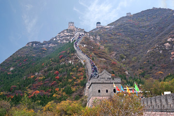 Photo sur Aluminium Muraille de Chine China the great wall at Juyong pass.