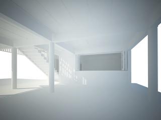 3d rendering of space