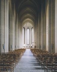 Scandinavian architecture - Impressive architecture in this symmetrical church.