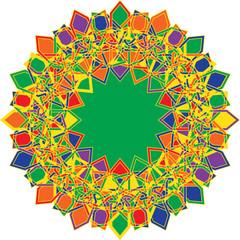 Circular geometric pattern in arabesque style. Eight pointed star. Mandala. Lotus. tessellation illustration.