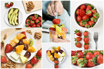 collage of different meals made with fruits