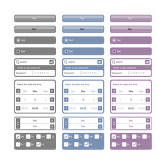 web elements and buttons