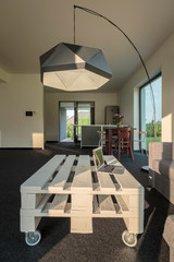 Modern floor lamp which transform simple interior
