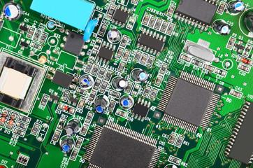 Green computer motherboard
