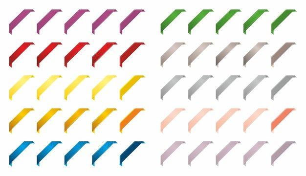 Kolorowe wstęgi