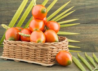 Chontaduro delicious tropical fruit (Bactris gasipaes)