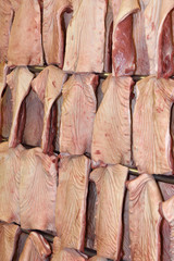 Pork meat industry, texture bacon