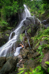 Waterfall with Photographers