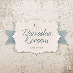 Ramadan Kareem Eid Mubarak realistic Card
