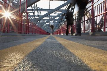 Williamsburg Bridge walkway, New York City, NY, USA