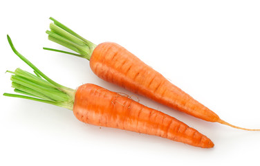 Fresh whole carrots