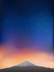 Fujiyama at night
