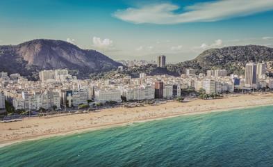 Aerial view of Copacabana Beach, Rio De Janeiro