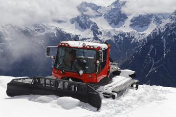 snowcat in the austrian alps: Kleinwalsertal